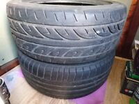 For sale second hand tyre 17 inch plus steel spare tyre