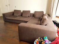 Stunning Large Brown Corner Sofa From Habitat Ideal For Families or Sharers