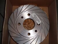 Peugeot 106 GTI red dot performance grooved brake discs brand new