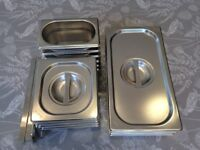 Selection of stainless steel gastro's