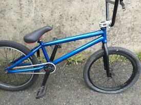 custom bmx build candy blue skatepark street bike stunt bicycle