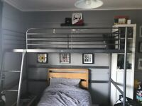Ikea single metal loft bed