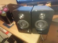 x2 pc speakers work great