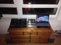 Hp Laptop , Twin Numark Cd Decks & A Hitachi Hifi (Music System)