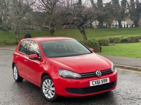 2011(61)Volkswagen Golf 1.6 TDI Match Full Service History 2 Keys + Not Audi Seat Ford