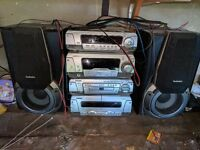 Technics separate stacked classic sound system SA-DV170