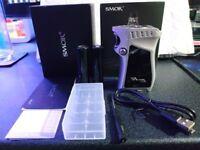 Smok Mag 225W in Silver/Chrome RH boxed in mint condition plus 18650 batteries vape vaping vaporiser