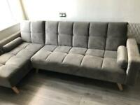 Modern grey sofa bed