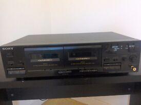 Sony Double Cassette Deck TC-WR445. Dolby B, C