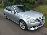 2010 MERCEDES-BENZ C180 KOMPRESSOR C CLASS, SPORT, BLUEEFFICIENCY, 156 bhp, PETROL, 71,000 MILES