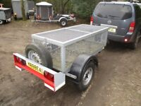 VERY STRONG 1000KG BRAKED GOODS / TOOLBOX CAGE TRAILER...