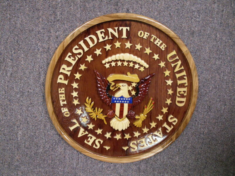 """Seal of the President White House 12"""" Wooden Plaque - Brand New"""