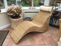 Wicker Lounger Style Chair