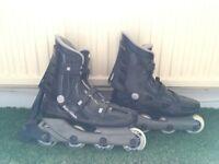 Original Rollerblades inline skates with semi-new smooth wheels (size 7.5-9.5 UK)
