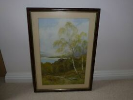 ENGLISH COUNTRYSIDE PICTURE PROFFESSIONALLY FRAMED WITH ANTI GLARE GLASS