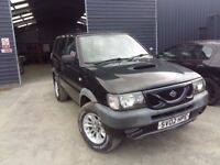 breaking black nissan terrano lwb 2.7 turbo diesel manual 4x4 parts spares alloys