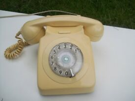 1960's GPO 746 Mark 1 Telephone in Ivory. Fully Working/Converted. Try Before You Buy!