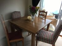 Dining table and 4 chairs for sale £50