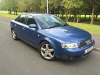 AUDI A 4 1.9 TDI ,,, 130BHP 5 DOORS , 6 CD CHANGER ,,VERY ECONOMICAL ,VERY GOOD RUNNER,