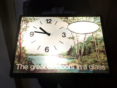vintage genesee beer sign lighted sign clock