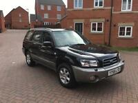2005 55 SUBARU FORESTER 2.0 AUTO 4WD X ALL WEATHER BLACK AUTOMATIC