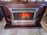 ELECTRIC FIRE With MAHOGANY SURROUND