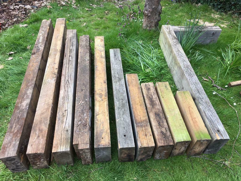 Garden railway sleepers, wooden edging, timber, garden, decking, patio, veg  patch, treated timber | in East Molesey, Surrey | Gumtree