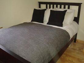 IKEA HEMNES bed frame and HOVAG pocket sprung mattress