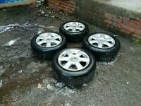 """5x112 16"""" vw alloys and tyres"""