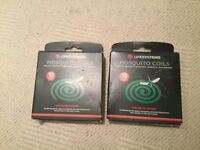Lifesystem mosquito coils - 2 boxes of 10 with stands