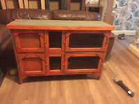 brand new 4ft double rabbit/guinea pig hutch in red(no ramp)