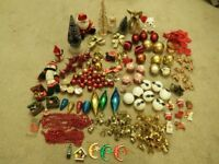 Large Amount Of Christmas Decorations - Many Now Vintage