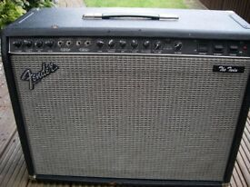 Fender 'The Twin' 100 watt 2x12 all valve electric guitar amplifier - '80s - USA - Red Knob series