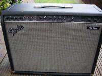 Fender 'The Twin' 100 watt 2x12 all valve electric guitar amplifier - '80s - USA - Red Knob series