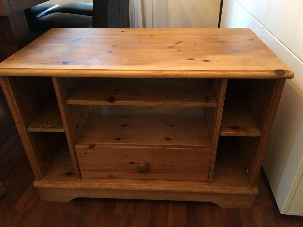 Solid Pine Tv Unit Antique Stain Reduced Again In