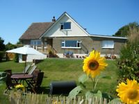 Village house with panoramic views on the Isle of Wight, sleeps 10 plus 3 small children