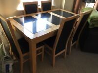 6 Seater Black Dining Room Table And Chairs
