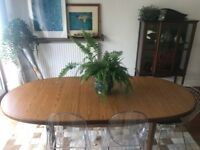 Designer Danish Dining Table, vintage, retro, solid wood