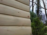 Treated Wooden Cladding Large Selection Available