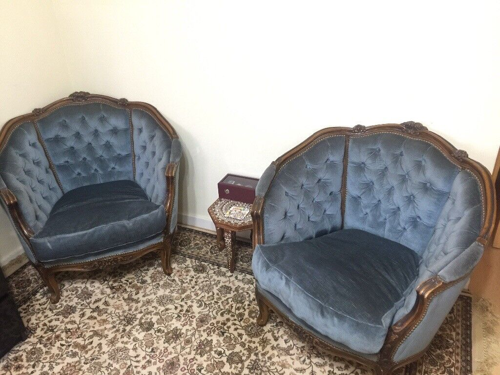 Pair of antique mahogany tub chairs - Pair Of Antique Mahogany Tub Chairs In Acton, London Gumtree