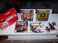 Great condition red 3ds XL + 9 Games
