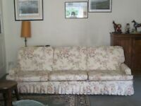 Three piece suite. Large sofa and chairs