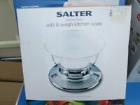 SALTER KITCHEN SCALES - NEW