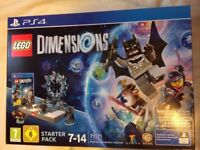 Lego Dimensions PS4 Starter Pack + 3 Character Packs - New & Sealed
