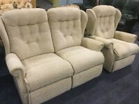 Fabric 2 seater sofa and armchair 2nd hand