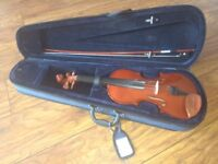 Violin with case & bow - full size beginner 4/4
