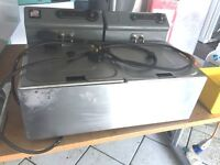 Parry Twin Tank Counter Top Electric Fryer, Full Working Order