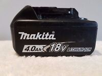 MAKITA 18v LXT LI-ION BL1840 (4AH) battery, perfect working order,(STAR) (USED) DeWALT HITACHI