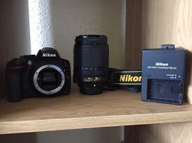 Nikon D3500 with 18-140mm lens kit