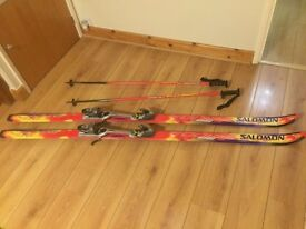 Salomon Equipe 9100 Skis With salomon 850 Bindings and matching poles